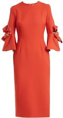 Roksanda Lavete bow-detail crepe dress