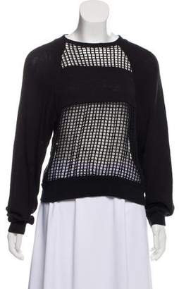Isabel Marant Open-Knit Crew Neck Sweater