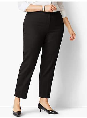 Talbots Plus Size Pique Slim Ankle Pant