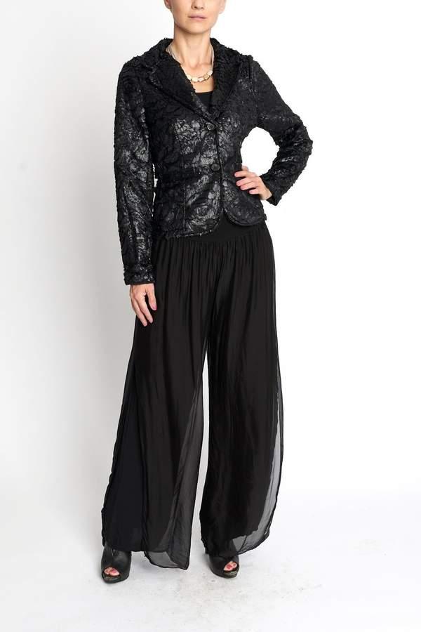 Femme Fatale Texture Black Blazer