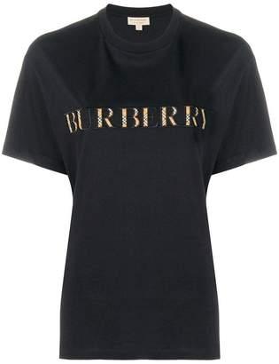 Burberry check logo T-shirt