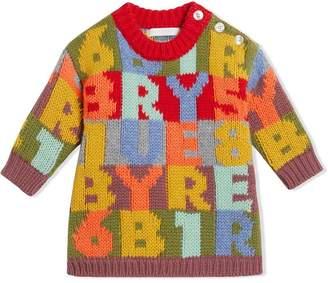 Burberry Alphabet Intarsia Cashmere Dress