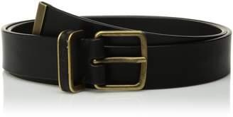 Calvin Klein Women's 30mm Flat Strap, Metal Loop W/Leather Inlay