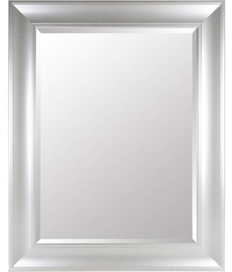Gallery Solutions Large 39X49 Beveled Wall Mirror with Silver Frame