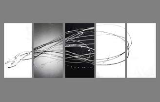 Decor Abstract Art 5 Piece Abstract Canvas Painting in White