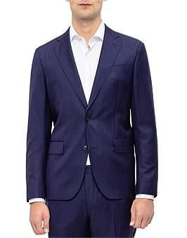 Sand 2B Sv 100% Wool Pinstripe Suit Jacket S194