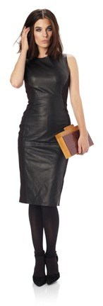 French Connection Block Leather Dress
