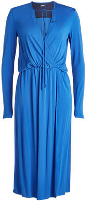 Jil Sander Navy Draped Dress