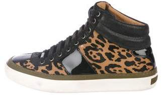 Jimmy Choo Ponyhair High-Top Sneakers