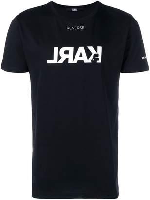 Karl Lagerfeld Reverse Logo T-Shirt