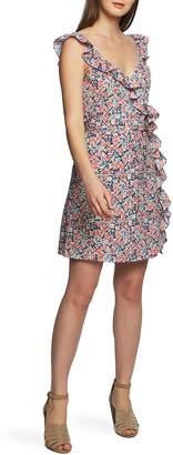 1 STATE 1.STATE Sunwashed Ruffle Edge Sleeveless Dress