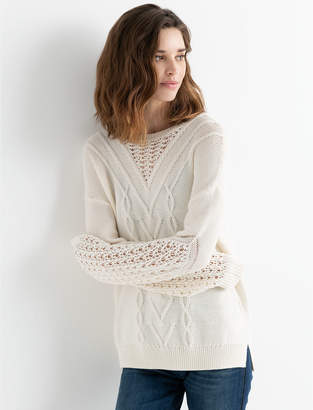 Lucky Brand BLOUSON STITCH PULLOVER