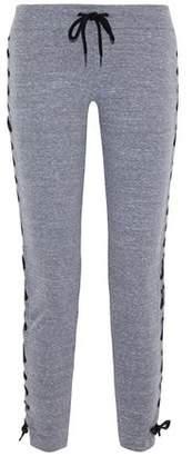 Monrow Lace-Up Mélange Jersey Track Pants