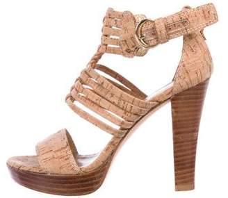 Stuart Weitzman Cork Platform Sandals
