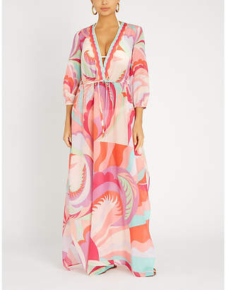 Emilio Pucci Printed cotton and silk-blend kaftan