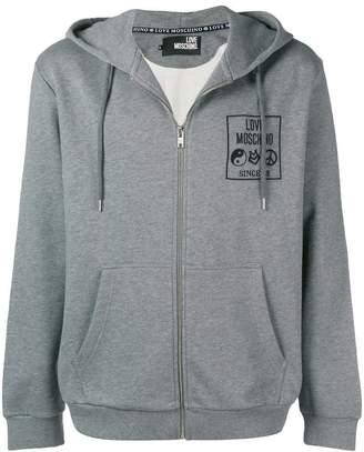 Love Moschino logo printed hoodie