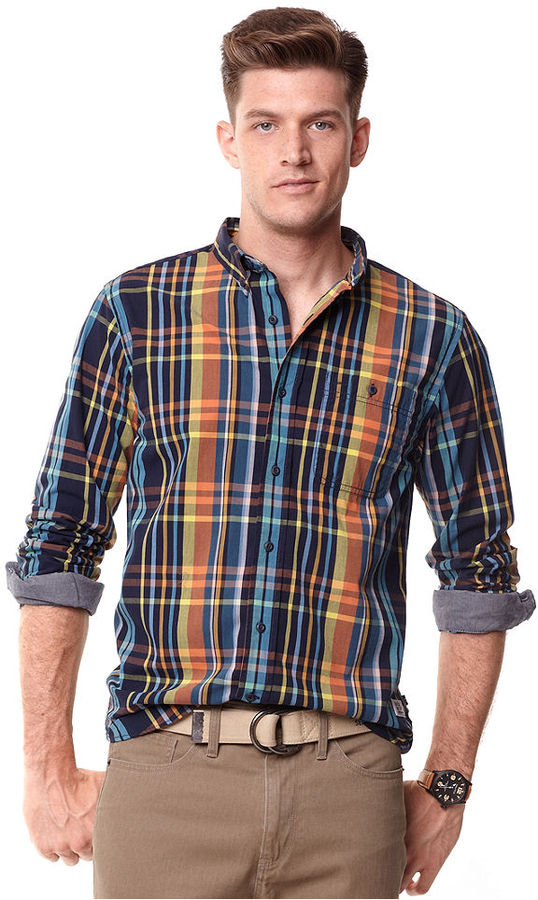 Nautica Shirt, Long Sleeve Vineyard Madras Shirt