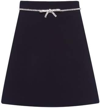 Miu Miu bow embellished skirt