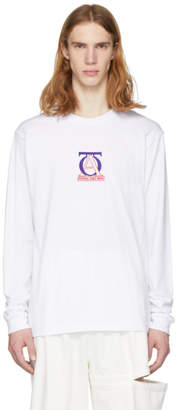 Perks And Mini White Long Sleeve Roman T-Shirt