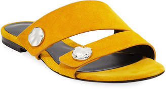 3.1 Phillip Lim Drum Flat Suede Slide Sandals