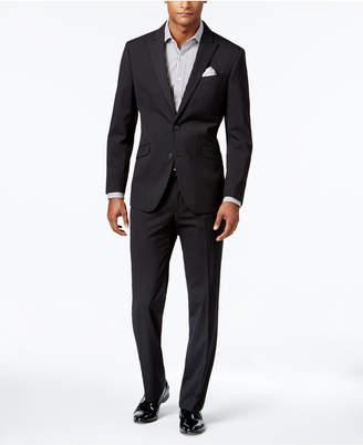 Kenneth Cole Reaction Men's Slim-Fit Black Tonal Striped Suit $375 thestylecure.com