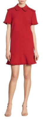 RED Valentino Ruffled Collared Cady Dress $595 thestylecure.com