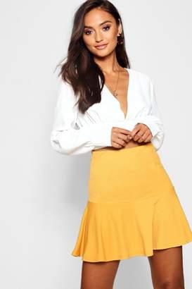 boohoo Petite Ruffle Hem Pelmet Skirt