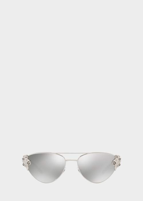 0ca86d94ae6f0 Versace Baroccomania Pilot Sunglasses detail image