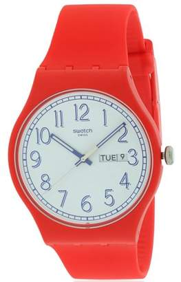 Swatch RED ME UP Mens Watch SUOR707