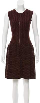 Alaia Velvet Fit and Flare Dress