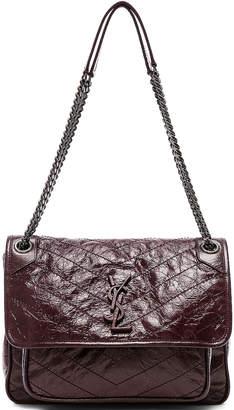 Saint Laurent Medium Monogramme Niki Chain Bag in Legion Red   FWRD