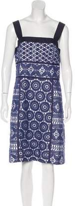Tory Burch Sleeveless Lace-Overlay Dress