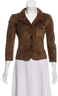Valentino Leather Lace-Up Back Jacket