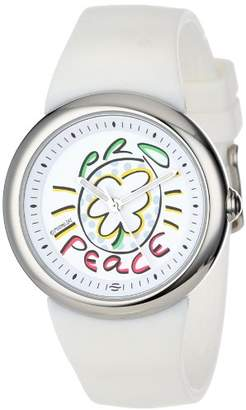 PeaceLove Quartz Stainless Steel and Silicone Casual Watch