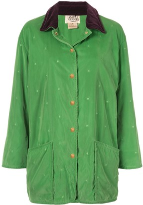 Hermes Pre-Owned all-over quilt textured collar jacket