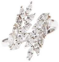 Vince Camuto Silvertone & Crystal Ring
