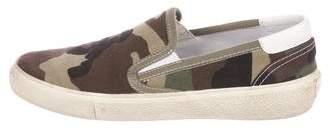 Saint Laurent Canvas Slip-On Sneakers