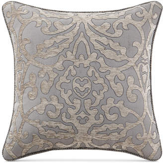 "Waterford Carrick Reversible 18"" Square Damask Decorative Pillow"