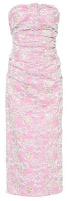 Miu Miu Strapless cloqué dress
