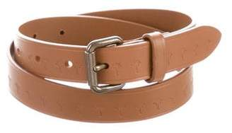 Tomas Maier Leather Buckle Belt