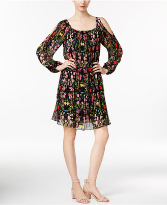 INC International Concepts Floral-Print Cold-Shoulder Dress, Only at Macy's $119.50 thestylecure.com