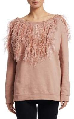 No.21 No. 21 Ostritch Feather Sweatshirt