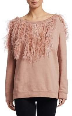 No.21 NO. 21 Ostritch Feather Sweatshirt