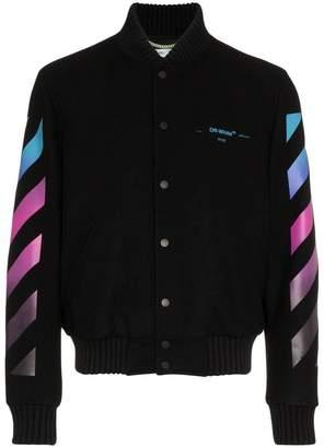 Off-White diag gradient varsity jacket