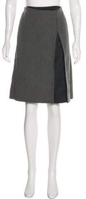 Narciso Rodriguez Knee-Length Wool Skirt