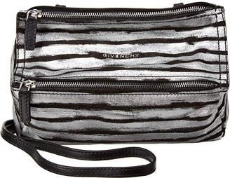 Givenchy Pandora Mini Metallic Stripe Leather Shoulder Bag