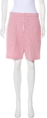 Berle Seersucker Knee-Length Shorts