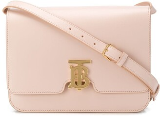 Burberry medium leather TB shoulder bag