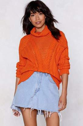 Nasty Gal Out With the Cold Turtleneck Sweater