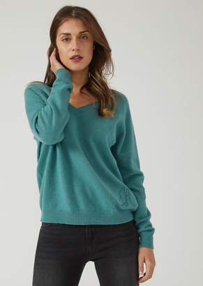 Emporio Armani V-Neck Cashmere Blend Sweater